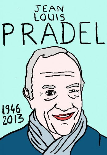 mort de jean louis Pradel,dessin,portrait,laurent jacquy,mort d'homme,répertoire des macchabées célèbres,art modeste