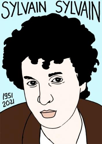 mort de Sylvain Sylvain,dessin,portrait,laurent Jacquy
