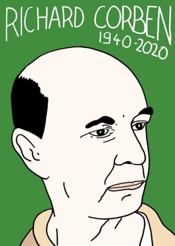Mort de Richard Corben, dessin, portrait,laurent jacquy