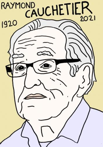mort de Raymond Cauchetier,dessin,portrait,laurent Jacquy