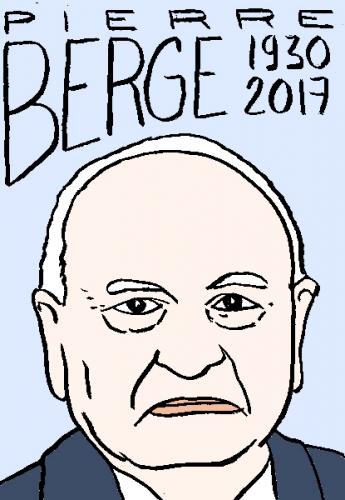 mort de Pierre Bergé, dessin, portrait, laurent jacquy,répertoire des macchabées célèbres,mort d'homme,