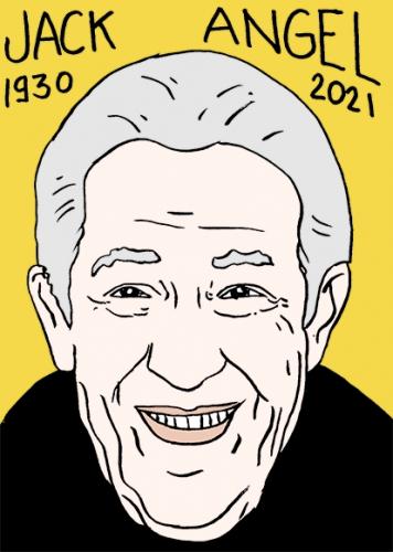 mort de Jack Angel,dessin,portrait,laurent Jacquy