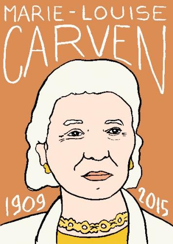 mort de marie-louise carven dessin, portrait, laurent jacquy,répertoire des macchabbées célèbres, visage,mort d'homme