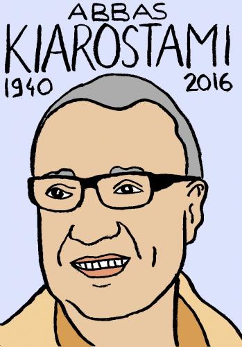 mort d'abbas kiarostami, dessin, portrait, laurent jacquy,répertoire des macchabées célèbres,mort d'homme,