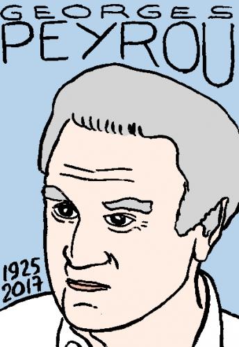 mort de gorges peyrou, dessin, portrait, laurent jacquy,répertoire des macchabées célèbres,mort d'homme,