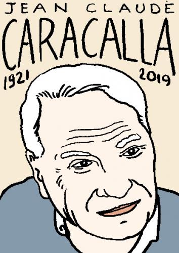 mort de Jean-Claude Caracalla, dessin, portrait, laurent jacquy,répertoire des macchabées célèbres,mort d'homme,
