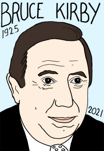 mort de Bruce Kirby,dessin,portrait,laurent Jacquy