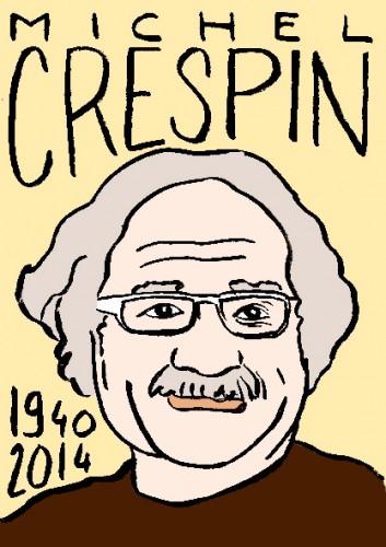 mort de michel crespin,dessin,portrait,laurent jacquy,répertoire des macchabées célèbres