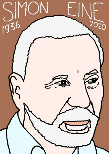 mort de Simon Eine, dessin, portrait, laurent jacquy,répertoire des macchabées célèbres,mort d'homme,
