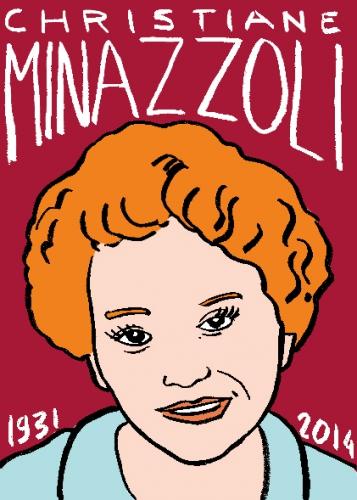 mort de christiane minazzoli,dessin,portrait,laurent jacquy,répertoire des macchabées célèbres