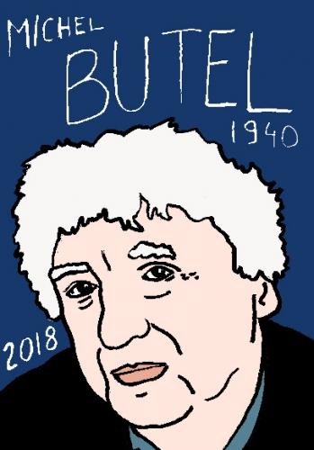 mort de Michel Butel, dessin, portrait, laurent jacquy,répertoire des macchabées célèbres,mort d'homme,