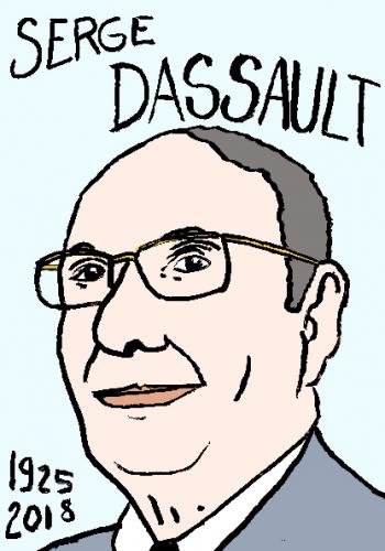 mort de serge dassault, dessin, portrait, laurent jacquy,répertoire des macchabées célèbres,mort d'homme,
