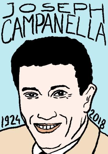 mort de joseph campanella, dessin, portrait, laurent jacquy,répertoire des macchabées célèbres,mort d'homme,