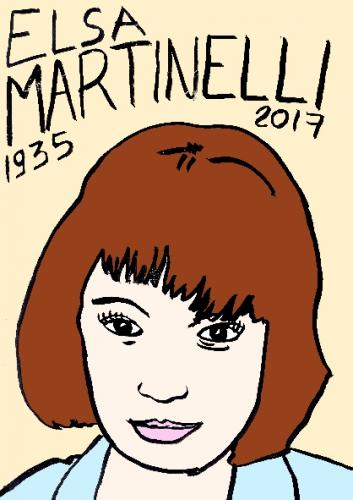 mort d'elsa martinelli, dessin, portrait, laurent jacquy,répertoire des macchabées célèbres,mort d'homme,