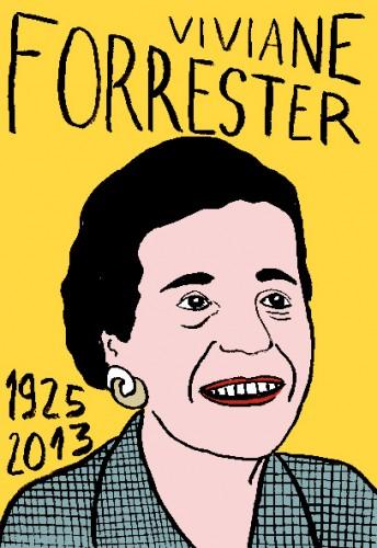 Viviane Forrester, portrait,dessin,laurent jacquy,art modeste,art singulier,les beaux dimanches