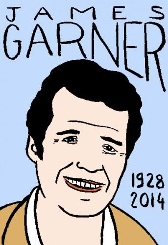 décès de James Garner,dessin,portrait,laurent jacquy,répertoire des macchabées célèbres