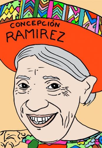 mort de Concepcion Ramirez,dessin,portrait,laurent Jacquy