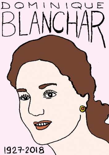 mort de dominique Blanchar, dessin, portrait, laurent jacquy,répertoire des macchabées célèbres,mort d'homme,