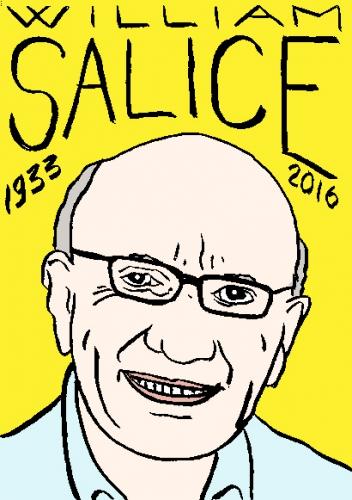 mort de william salice, dessin, portrait, laurent jacquy,répertoire des macchabées célèbres,mort d'homme,