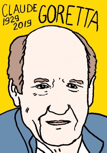mort de Claude Goretta, dessin, portrait, laurent jacquy,répertoire des macchabées célèbres,mort d'homme,