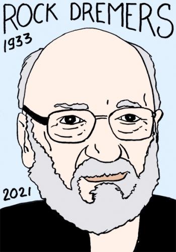 mort de Rock Dremers,dessin,portrait,laurent Jacquy