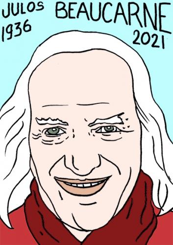 mort de Julos Beaucarne,dessin,portrait,laurent Jacquy