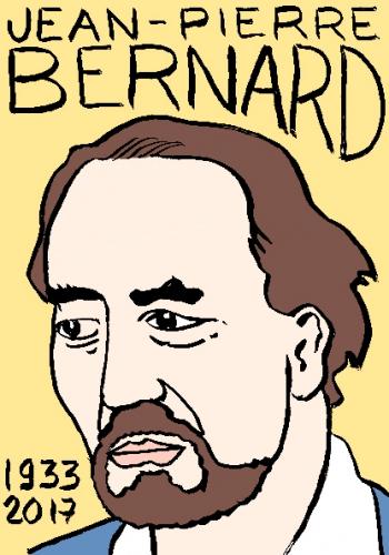 mort de jean-pierre bernard, dessin, portrait, laurent jacquy,répertoire des macchabées célèbres,mort d'homme,