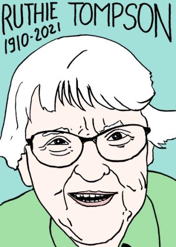 mort de Ruthie Tompson,dessin,portrait,laurent Jacquy