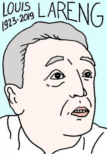 mort de Louis Lareng, dessin, portrait, laurent jacquy,répertoire des macchabées célèbres,mort d'homme,