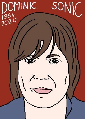 mort de Dominic Sonic, dessin, portrait, laurent jacquy,répertoire des macchabées célèbres,mort d'homme,