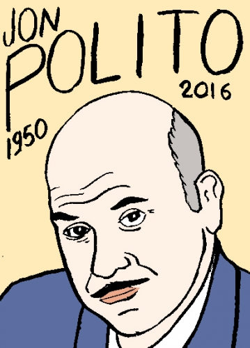 mort de jon polito, dessin, portrait, laurent jacquy,répertoire des macchabées célèbres,mort d'homme,