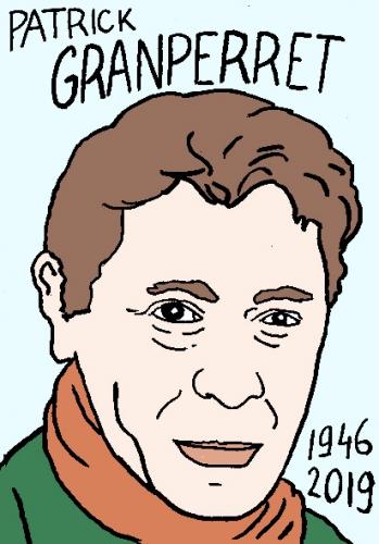 mort de Patrick Grandperret, dessin, portrait, laurent jacquy,répertoire des macchabées célèbres,mort d'homme,