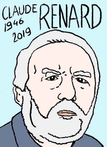 mort de claude Renard, dessin, portrait, laurent jacquy,répertoire des macchabées célèbres,mort d'homme,