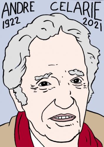 mort dAndré célarié,dessin,portrait,laurent Jacquy