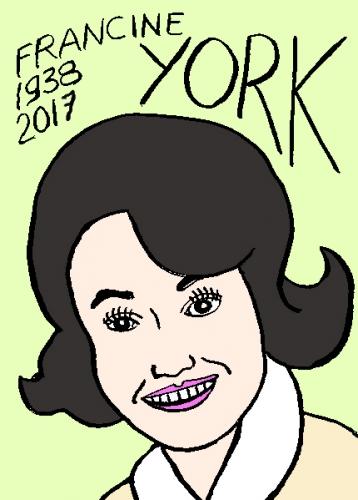 mort de francine York, dessin, portrait, laurent jacquy,répertoire des macchabées célèbres,mort d'homme,