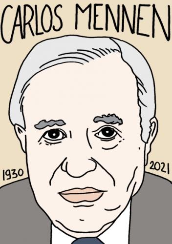 mort de Carlos Mennen,dessin,portrait,laurent Jacquy