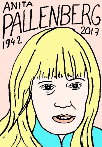 mort d'anita pallenberg dessin, portrait, laurent jacquy,répertoire des macchabées célèbres,mort d'homme,