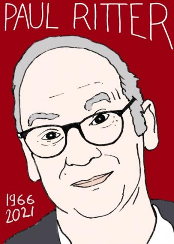 mort de Paul ritter,dessin,portrait,laurent Jacquy,poésie