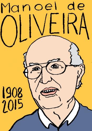 mort de manoelde oliveira, dessin, portrait, laurent jacquy,répertoire des macchabbées célèbres, visage,mort d'homme