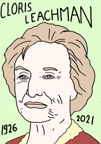 mort de Cloris Leachman,dessin,portrait,laurent Jacquy