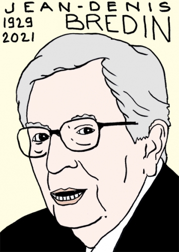mort de Jean-Denis Bredin,dessin,portrait,laurent Jacquy