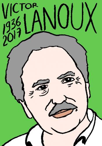 mort de Victor Lanoux, dessin, portrait, laurent jacquy,répertoire des macchabées célèbres,mort d'homme,
