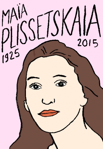 mort de maia plissetskaia, dessin, portrait, laurent jacquy,répertoire des macchabbées célèbres, visage,mort d'homme