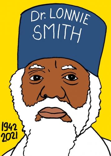 mort de Lonnie Smith,dessin,portrait,laurent Jacquy