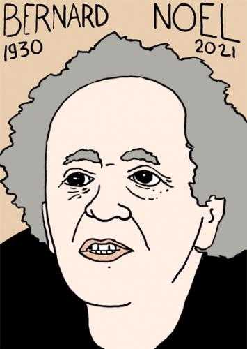 mort de Bernard Noël,dessin,portrait,laurent Jacquy,poésie,littératuer