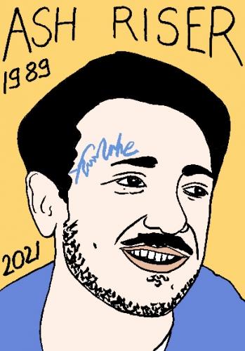 mort de Ash Riser,dessin,portrait,laurent Jacquy