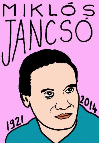 Mort de miklos Jancso,dessin,portrait,laurent jacquy,mort d'homme,répertoire des macchabées célèbres,art modeste,cinéma