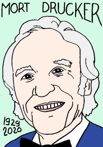 mort de Mort Drucker, dessin, portrait, laurent jacquy,répertoire des macchabées célèbres,mort d'homme,