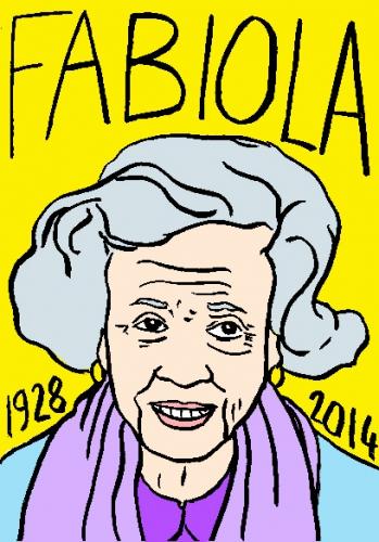 mort de Fabiola,dessin,portrait,laurent jacquy,répertoire des macchabées célèbres