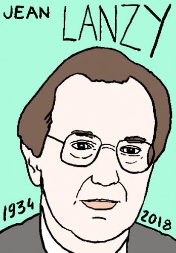 mort de jean lanzy, dessin, portrait, laurent jacquy,répertoire des macchabées célèbres,mort d'homme,